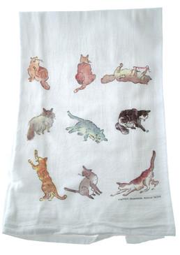 Flour Sack Towel Cats