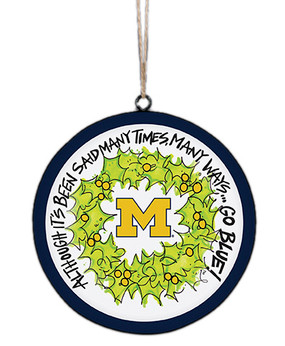 Show your U of M pride on your Christmas tree with this cute metal ornament