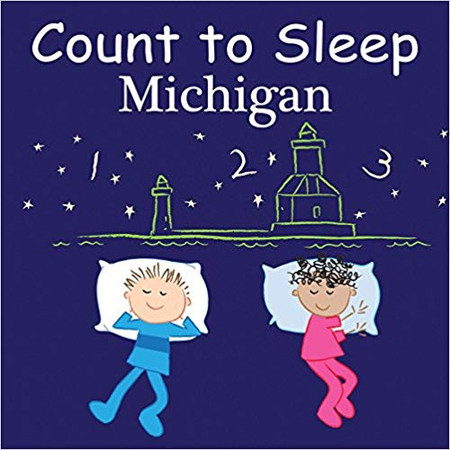 "Count to Sleep Michigan includes lighthouses, zoo animals, bridges, Mackinac Island ferryboats, cherry pickers, antique cars at The Henry Ford, and more. Come count the great state of Michigan. Young readers love counting the state's most celebrated sights and attractions.  20 Pages 6"" x 6"" board book with rounded corners"