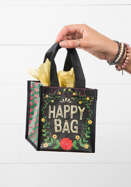 Sentiment: Happy Bag  Reusable bag fits all of our mugs perfectly! Features nylon webbed handles.