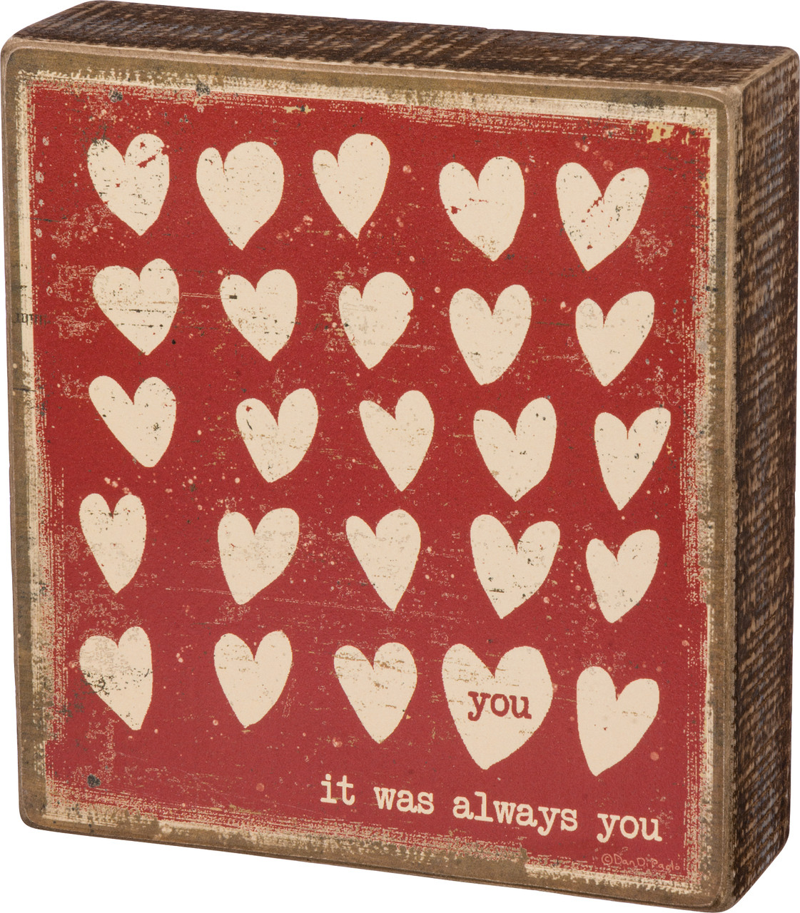 You It Was Always You Box Sign Gift For Girlfriend Anniversary
