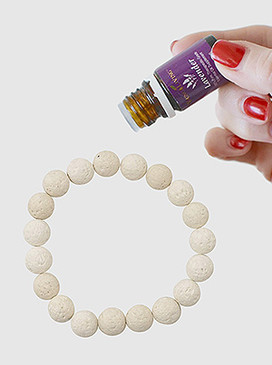 Stay stylish and enjoy the benefits of your favorite essential oils throughout the day by simply moistening the black lava beads with your preferred oil.