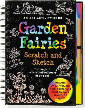 Scratch and sketch your very own gardens of flower fairies!