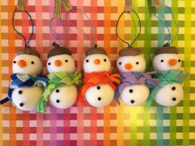 hand felted snowman ornament assorted