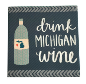Celebrate your favorite state with an adorable coaster handmade by Michigan artist, Katie Doucette.