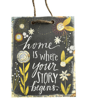 Celebrate your story with this handmade sign by Michigan artist, Katie Doucette