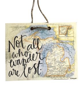 Celebrate your adventurous spirit with this handmade sign by Michigan artist, Katie Doucette