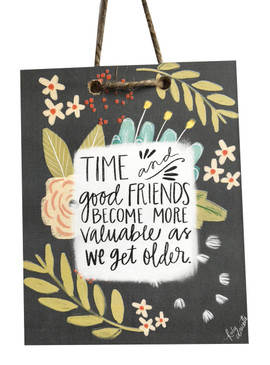 Celebrate good friendships with this handmade sign by Michigan artist, Katie Doucette