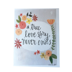 Celebrate an ongoing love story with this pretty card by Michigan artist, Katie Doucette Size: 5.5x4.25 sleeved in cello Blank inside