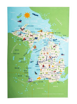 colorful michigan towel