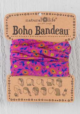 fuchsia floral boho bandeau, 18in L x 10in W
