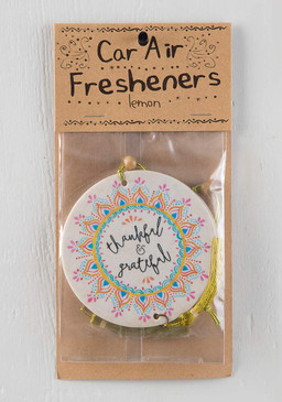 thankful and grateful air freshener