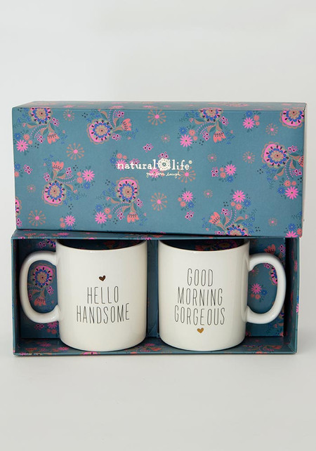 gorgeous/handsome set of 2 mugs