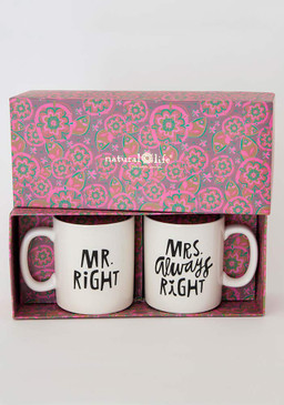 right/always right set of 2 mugs