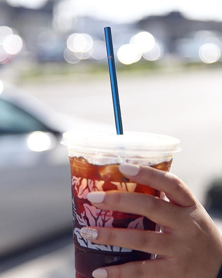 The straws are made from 100% stainless steel, are rust proof and safe for anyone to use. They're great for juice, soda, tea, water, smoothies and anything else really!