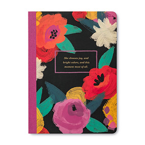floral patterned she chooses joy journal