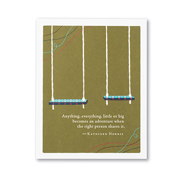 everything becomes an adventure father's day card