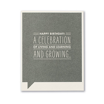celebration of living birthday card