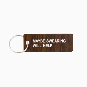 durable acrylic keychain with message