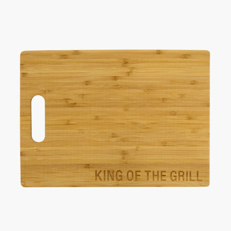 king of the grill bamboo cutting board