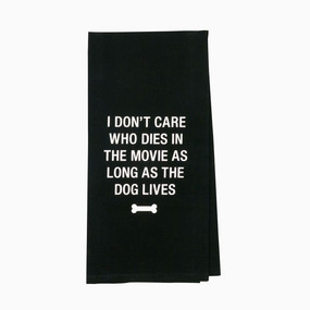 High quality tea towel featuring a sassy and fun dog message and made from cotton linen.