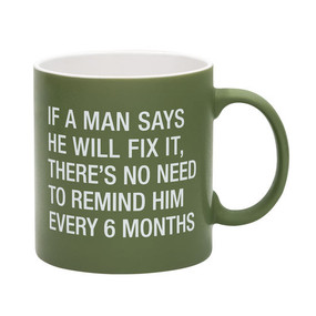 green mugs are are large, laughable and the perfect addition to any man cave