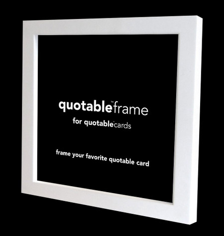 """Frame your favorite quotable card 5 5/8"""" square. american alder wood. glass. easel stand and hanging hardware."""