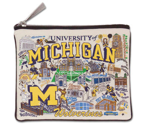 The design is colorfully woven into a handy-sized zip pouch - perfect for toting your keys, valuables, art supplies, cosmetics, and more!