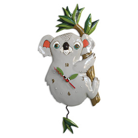 grey koala pendulum clock