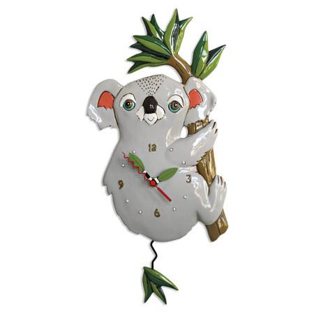 grey koala pendulum clock