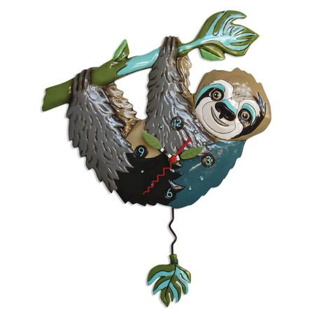 sloth on a branch pendulum clock