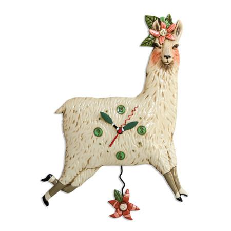 llama pendulum clock