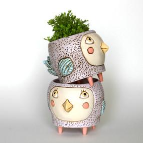 baby birdie planter