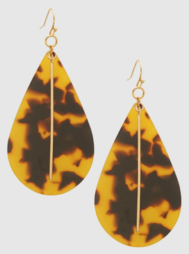 teardrop tortoise earrings
