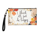 just be happy zippered bag - front