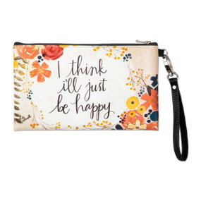 just be happy zippered bag - back