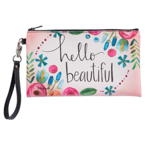 hello beautiful zippered bag