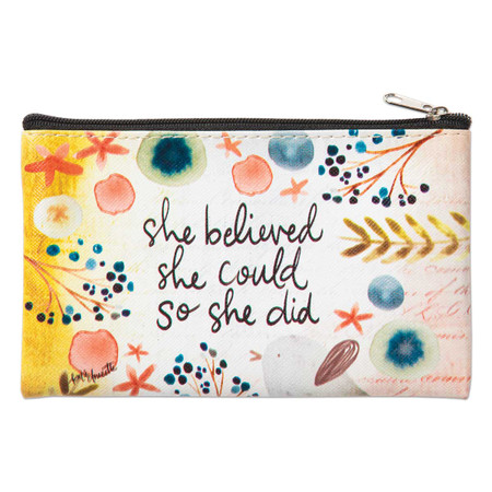 she believed she could so she did zippered coin purse