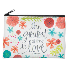 the greatest is love zippered coin purse