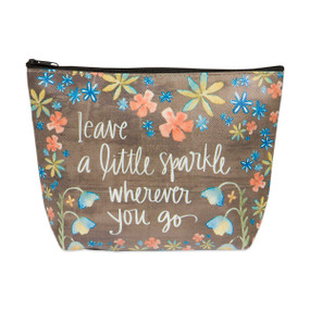 a little sparkle zippered cosmetic bag