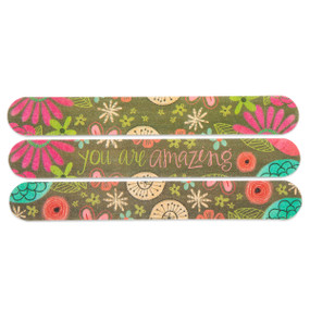 floral patterned emery board set