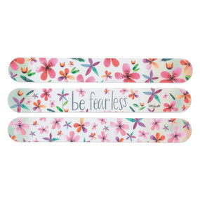 be fearless floral patterned emery board set