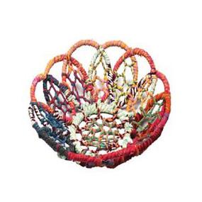 large iron color jute net basket bowl