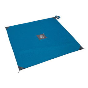 blue monkey mat 5' x 5' made of water repellent material