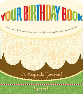 your birthday book record journal diary age one 1 to 18 eighteen great gift for new mom parents baby shower
