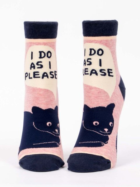 i do as i please womens ankle socks, front view