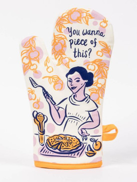 you want a piece of this oven mitt - front