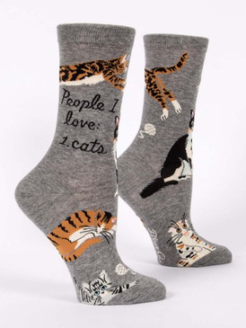 people i love cats womens crew socks