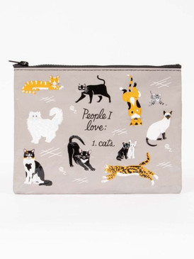 people i love cats zipper pouch