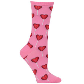womens heart lollipop socks
